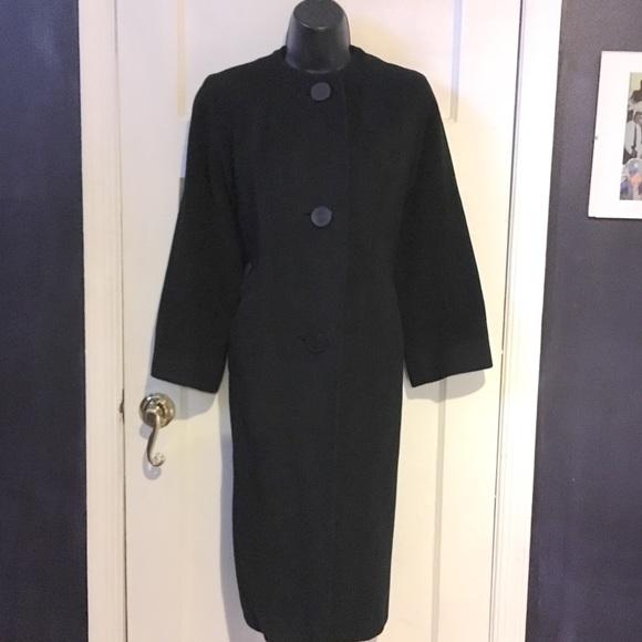 Godchaux's Jackets & Blazers - Vintage Godchaux's Black Cashmere Coat
